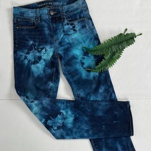 American Eagle Up-Cycled Tie Dye Mid Rise Skinny Jeans